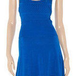 "<a href="" http://www.theoutnet.com/Shop/Clothing/Dresses/Off_Duty?viewall=on""> Catherine Malandrino paneled fine knit dress</a>, $178 theoutnet.com"