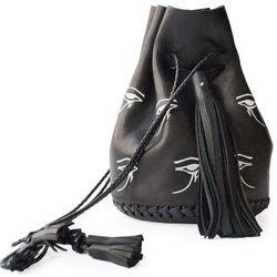 """Wendy Nichol embroidered Eye of Horus bullet bag, <a href=""""http://shop.wendynicholnyc.com/collections/handbags/products/embroidered-eye-of-horus-bullet-bag"""">$1,095</a>"""