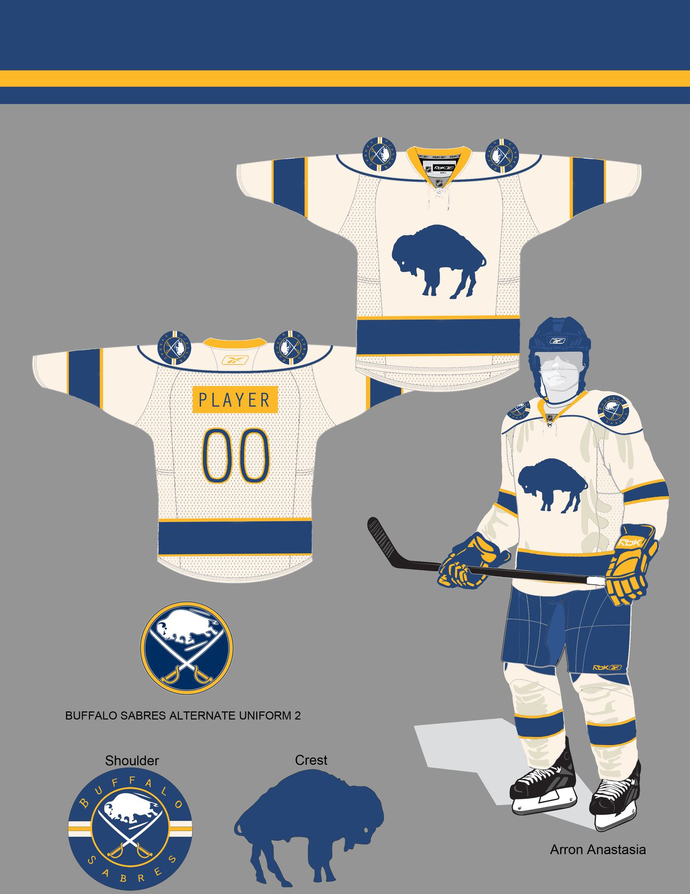 buy popular fb121 a312e Design a New Sabres Third Jersey: The Champion - Die By The ...