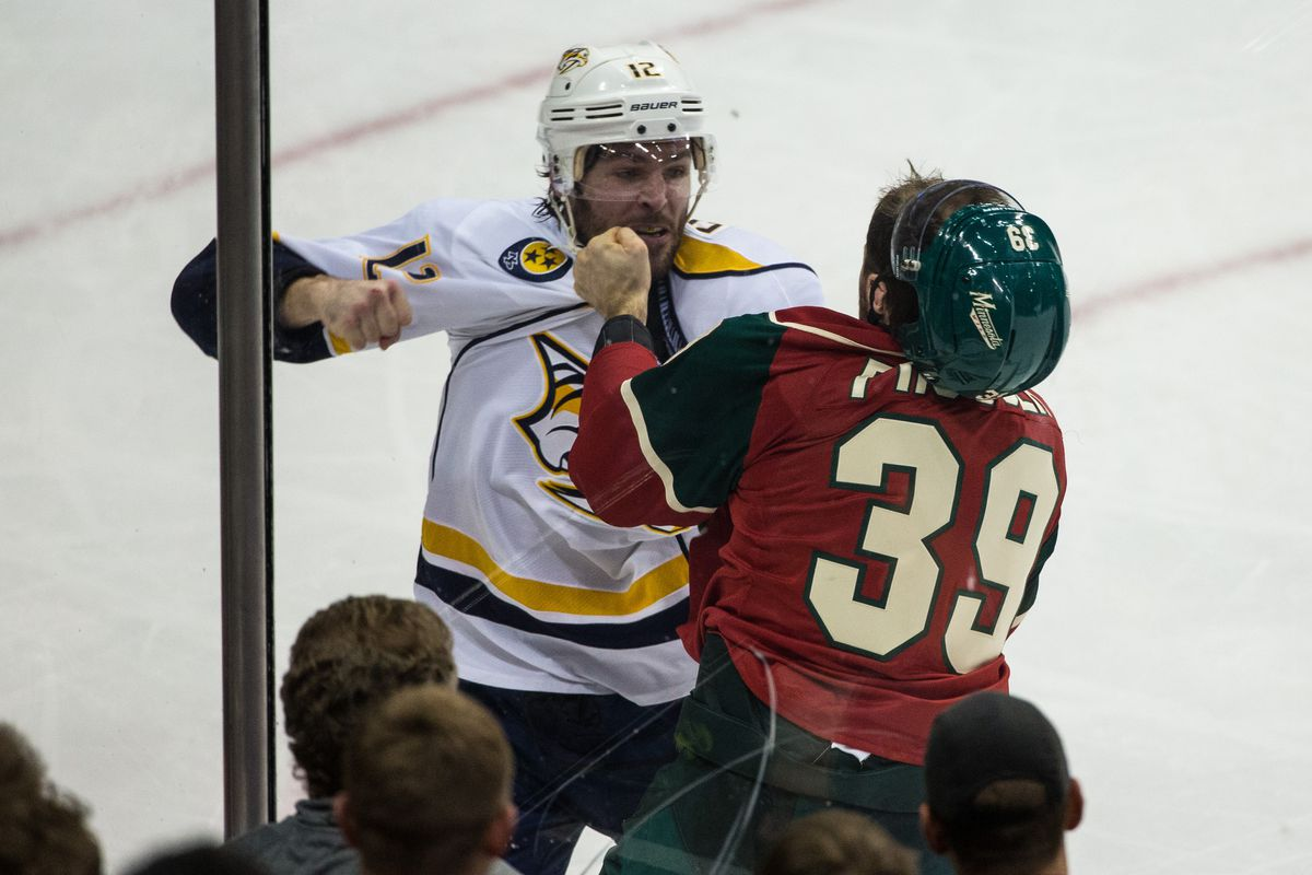 The Preds and Mike Fisher will try to fight off the Wild on Thursday night.