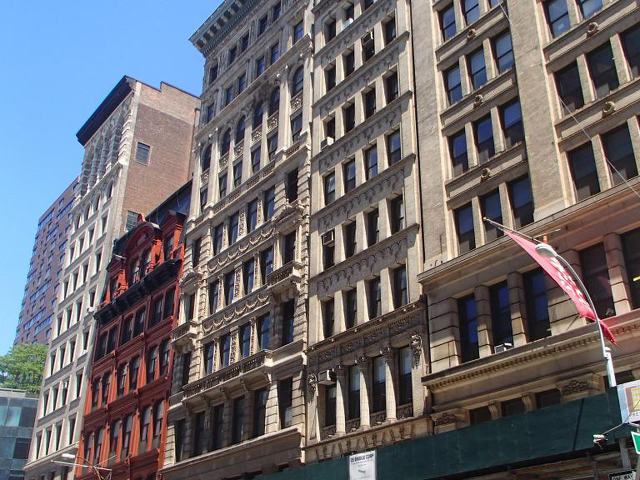 The group of buildings on Broadway that will be considered for landmark status.
