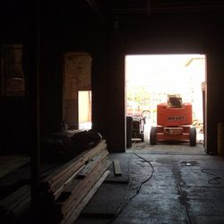 From the front door towards what will be the courtyard.