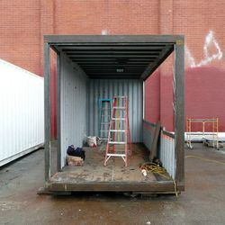 Another angle on the refurbished shipping container