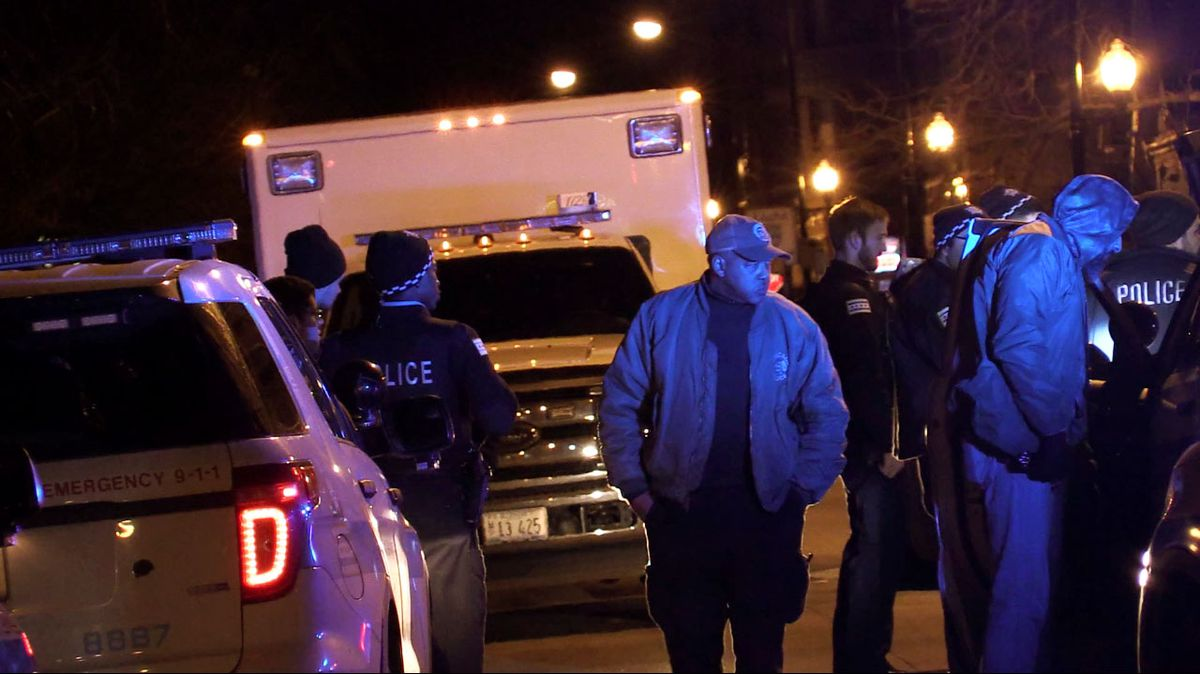 Five people were charged after the stolen minivan they were traveling in led police on a chase that ended early Saturday in the Heart of Chicago neighborhood.   Justin Jackson/Sun-Times