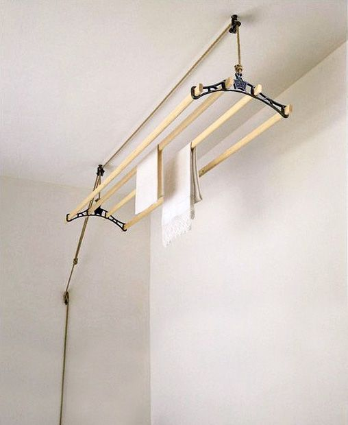 laundry room drying rack from Columbus Washboard Co.
