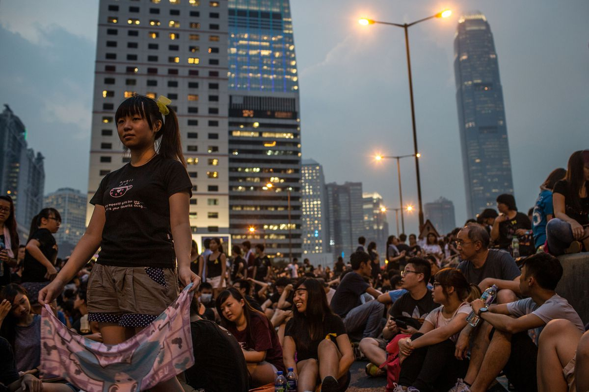 Protesters gather in Hong Kong, not that you would know it from People's Daily