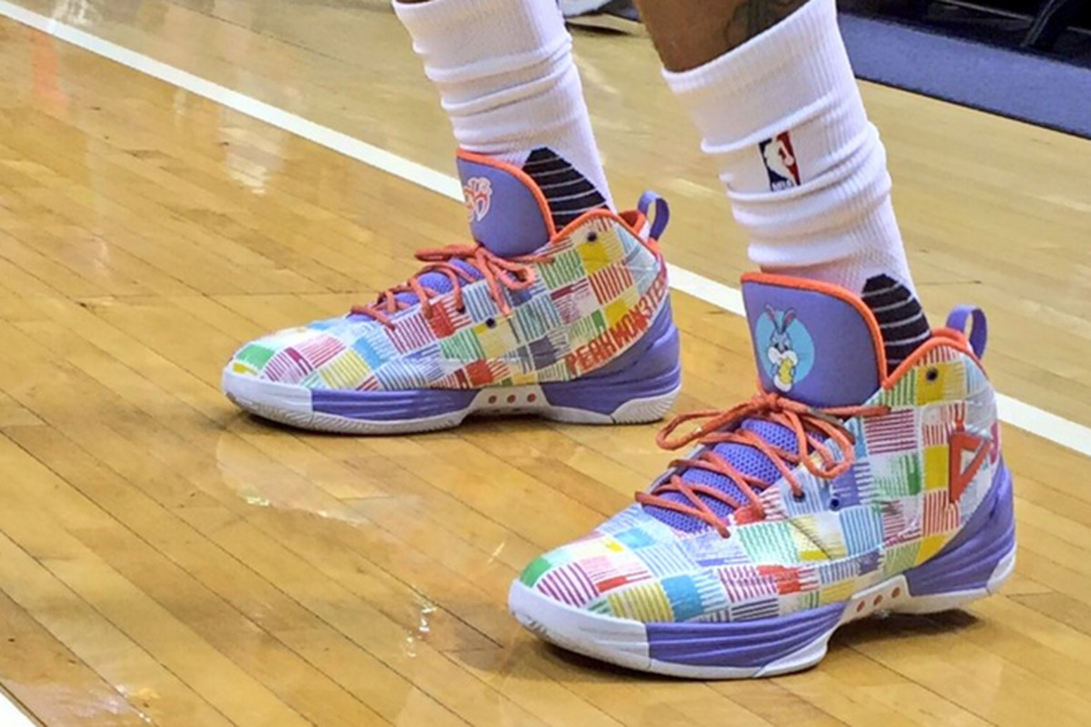 61043f28795e George Hill is wearing quilted pastel shoes for game on Easter Sunday