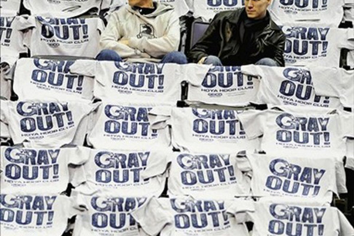 I expect a few empty seats at a number of Georgetown's home non-conference games. Mandatory Credit: Evan Habeeb-US PRESSWIRE
