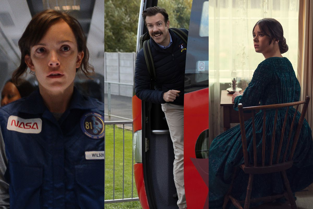 Jodi Balfour stars in For All Mankind, Jason Sudeikis stars in Ted Lasso, and Hailee Steinfeld stars in Dickinson.