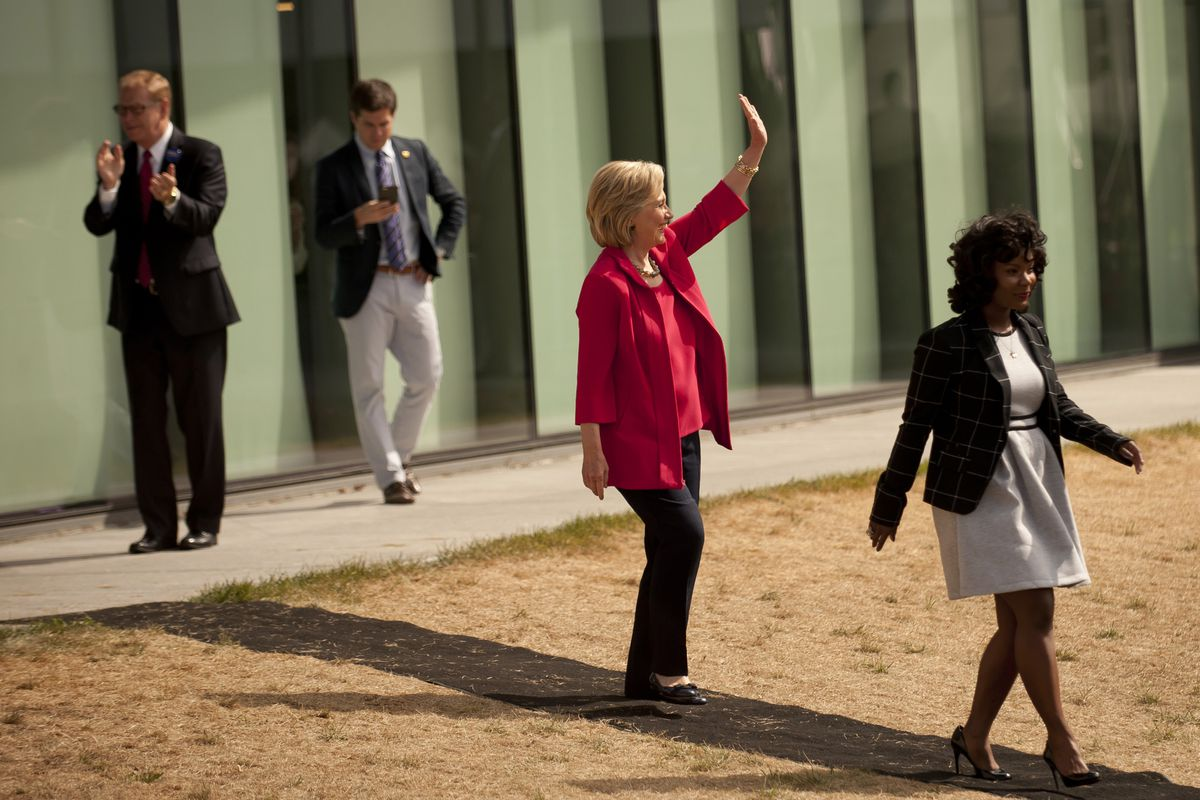 Hillary Clinton Holds Grassroots Organizing Meeting In Cleveland, Ohio