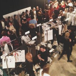 The line-up for my last show at Fall/Winter Fashion Week, <b>Narsico Rodriguez</b>! Such a fantastic adventure.
