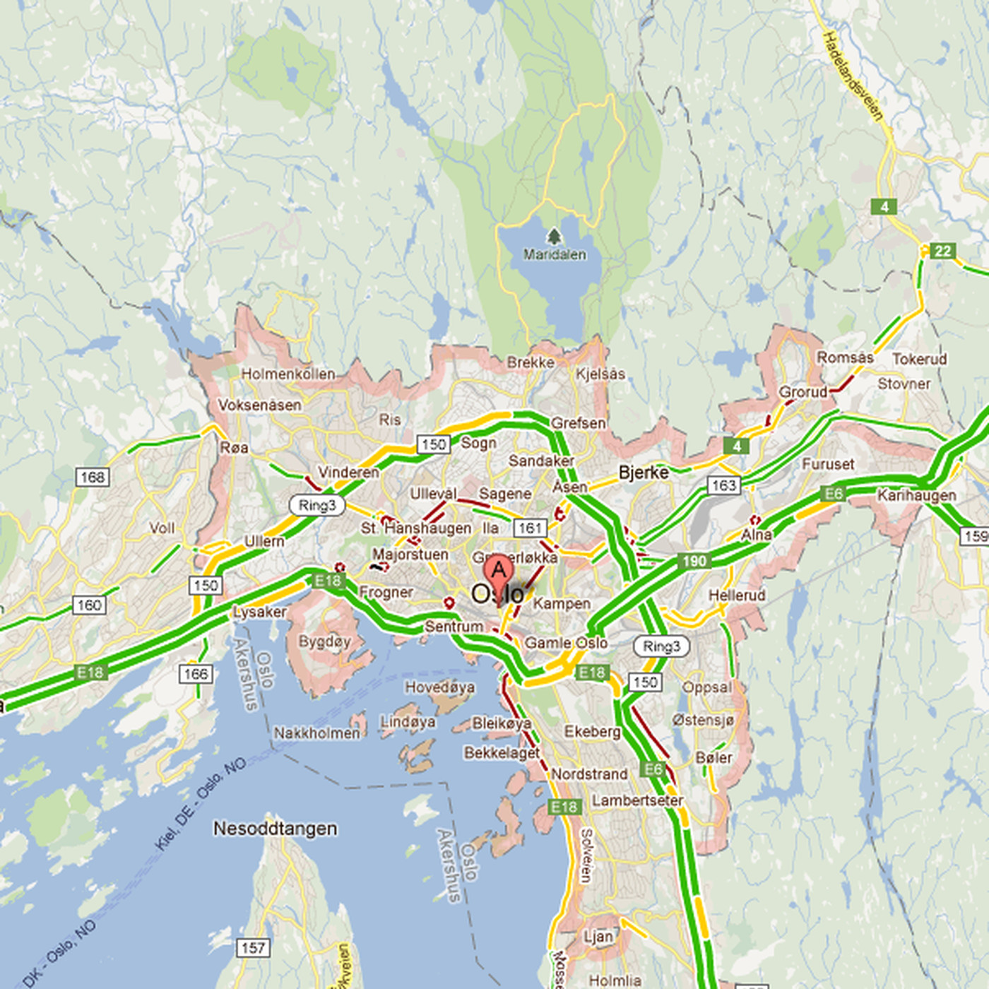 New Zealand Map Google.Google Maps Traffic Conditions Now Available In Hong Kong Norway