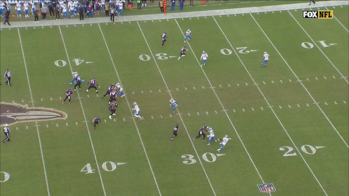 Lions Only Had 9 Players On The Field For A Ravens 3rd Down