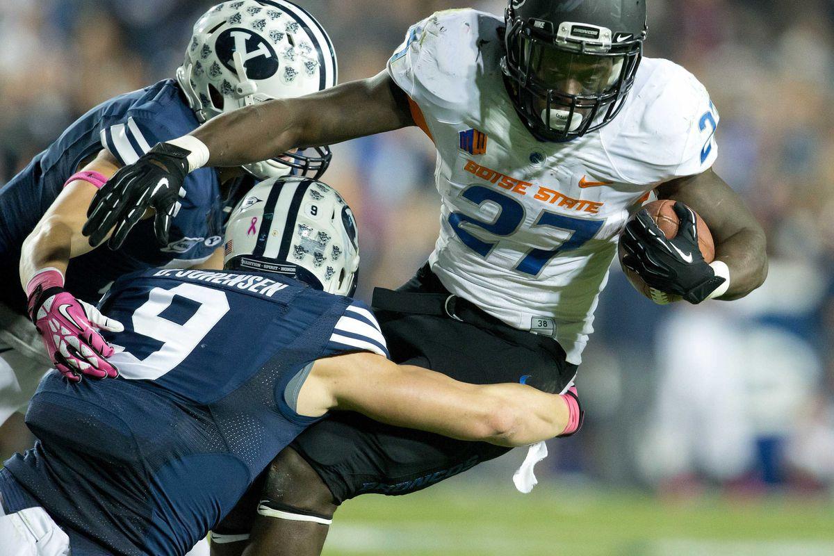 Daniel Sorensen makes a tackle