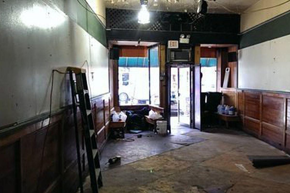 Renovations begin at Centre Street Cafe.