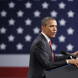 President Barack Obama speaks at a Women's Leadership Forum campaign event at the Washington Convention Center, Friday, April, 27, 2012 in Washington.