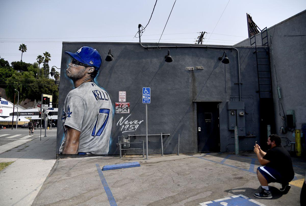 Mural Of Dodgers Pitcher Joe Kelly Appears In Los Angeles