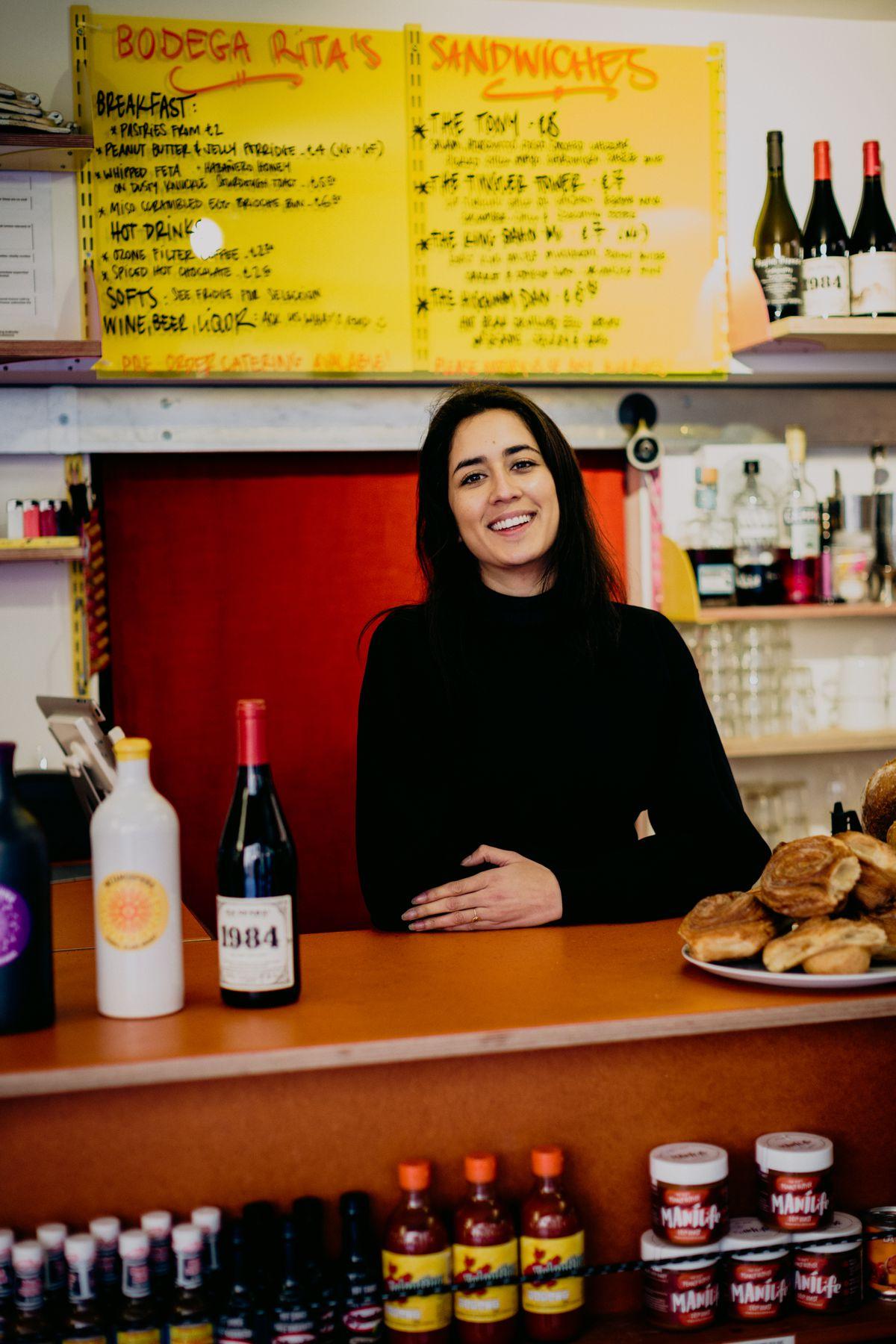 Bodega Rita's at Coal Drops Yard, King's Cross: Missy Flynn behind the bar