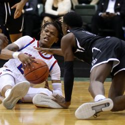 Curie's Ramean Hinton (23) looks for help against Orr's Shaun Harris (4) in their CPS semi final game at Chicago State University, Friday, February 15, 2019. | Kevin Tanaka/For the Sun Times