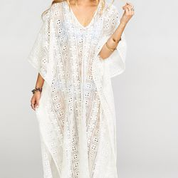 When it's time to head out, this practically wrinkle-proof caftan will take you to your next destination in style.