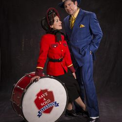 """Alexandra Zorn, left as Sarah Brown and Brian Vaughn as Sky Masterson star in the Utah Shakespeare Festival's 2017 production of """"Guys and Dolls."""""""