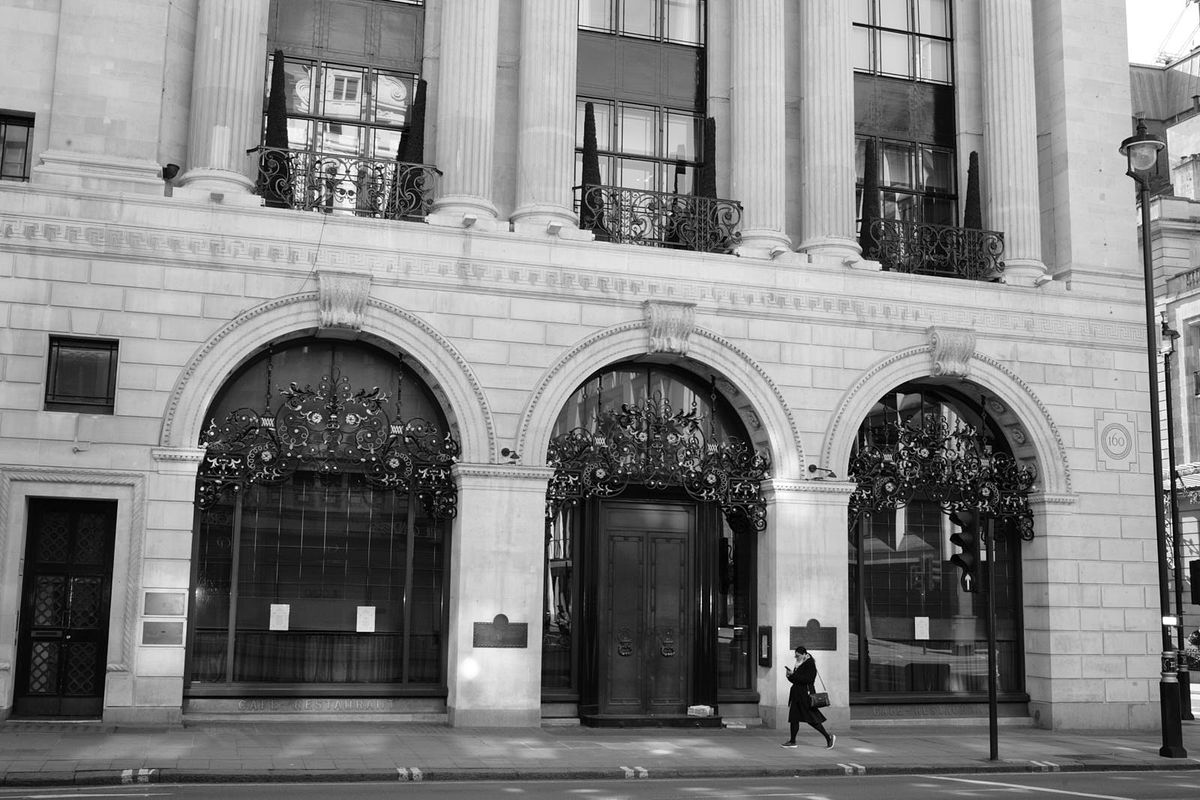 The Wolseley, often one of the most bustling restaurants in central London, closed for business this weekend because of the coronavirus COVID-19 outbreak in the capital