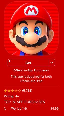 Super Mario Run - App Store in-app purchases screenshot