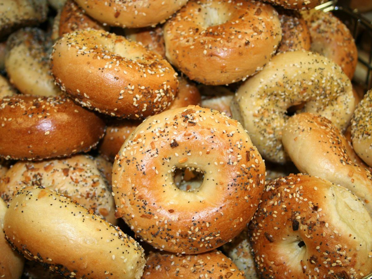 A pile of everything bagels