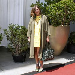"""<a href=""""http://stylesmithonline.com/""""target=""""_blank"""">Stylesmith</a> blogger and <a href=""""http://losangelesfashioncouncil.org/""""target=""""_blank"""">LA Fashion Council</a> founder Kelsi Smith wearing a L'Atelier de Savon dress from Japan, a Monki top, a vintage"""