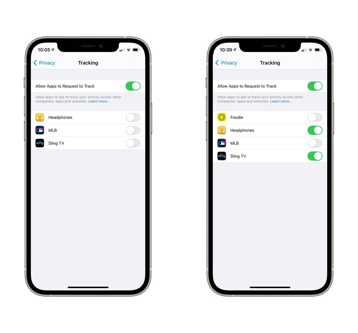 Go to Settings > Privacy > Tracking to change the settings for specific or all apps.