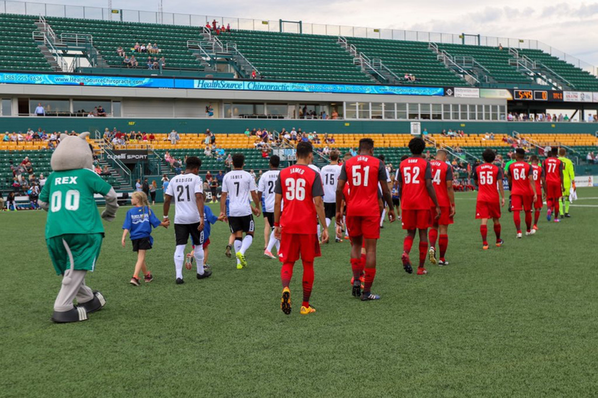 USL Photo - TFC II walk out ahead of the match against the Rochester Rhinos