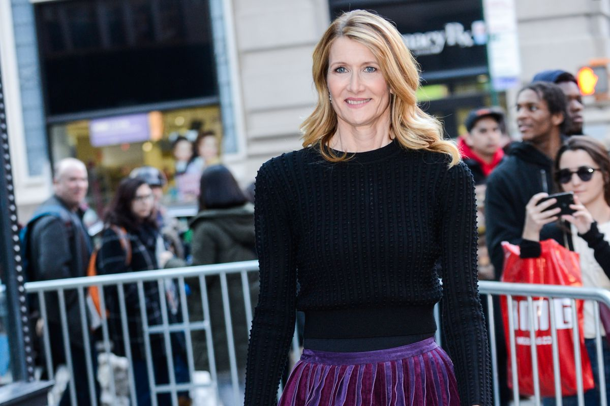 Actress Laura Dern leaves the 'AOL Build' taping at the AOL Studios on March 21, 2017 in New York City.