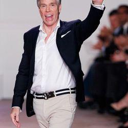 Designer Tommy Hilfiger on the runway
