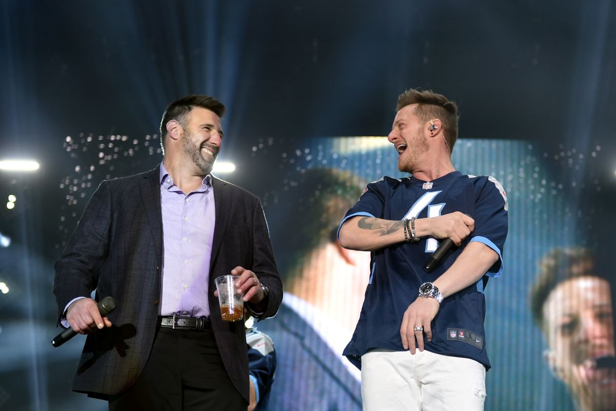 Multi-Platinum Superstar Duo Florida Georgia Line And The NFL's Tennessee Titans Team Up For The 'Tradition Evolved' Concert Event In Downtown Nashville To Celebrate The Titans New 2018 Uniforms