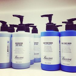 """Men's grooming essentials by <a href=""""http://www.baxterofcalifornia.com/""""target=""""_blank"""">Baxter of California</a>."""