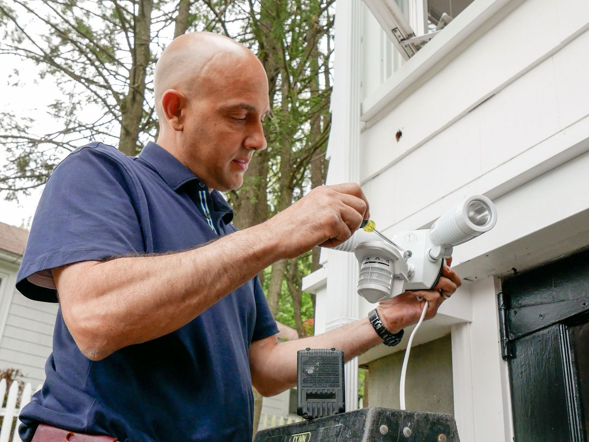Installing an outdoor motion detector