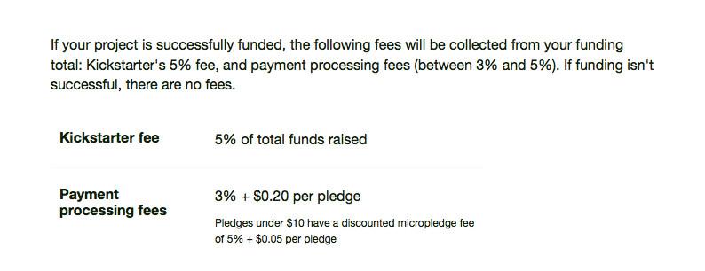 kickstarter fees