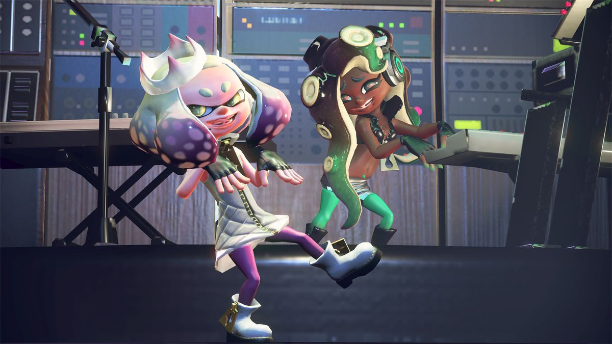 Splatoon 2 - Inklings playing music