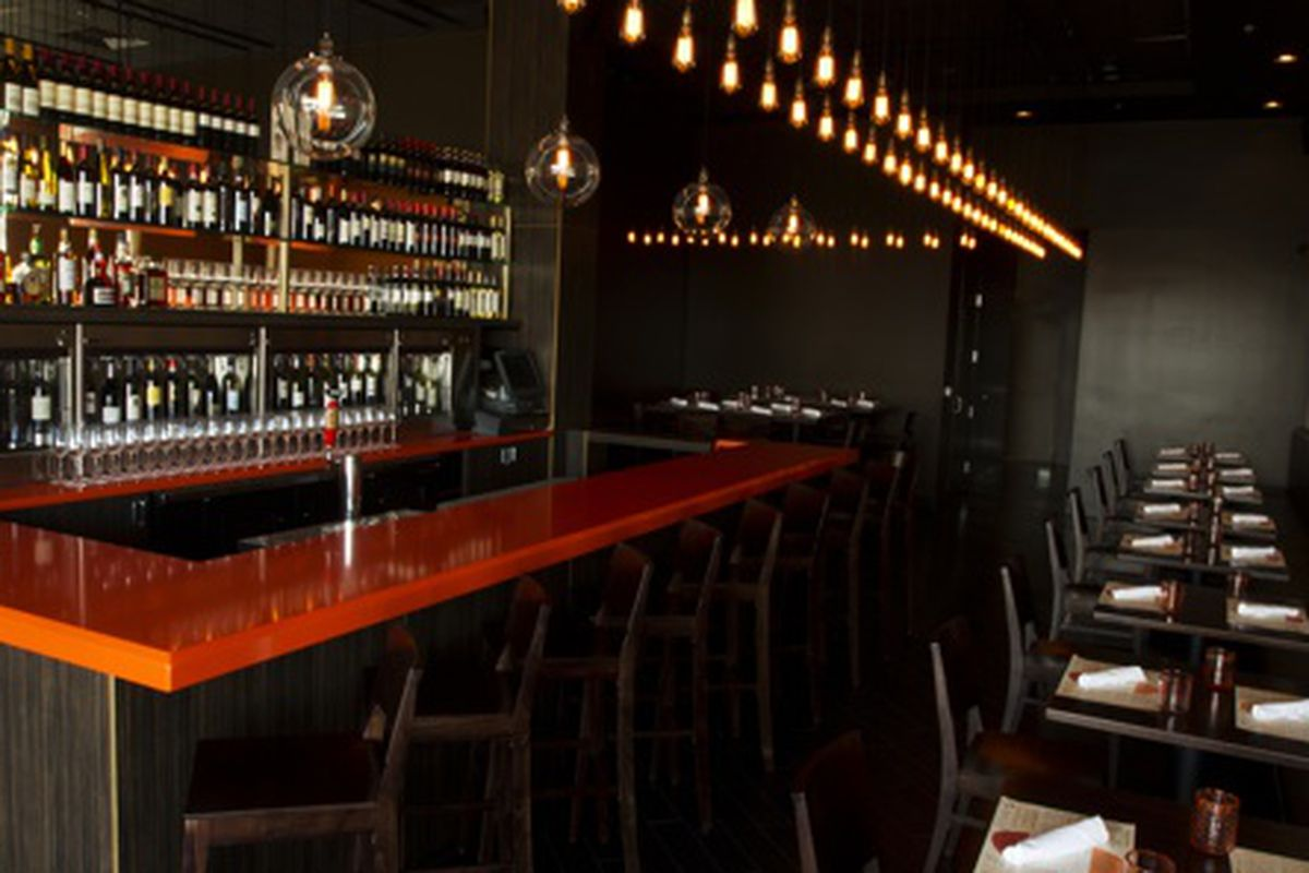 The bar at Due Forni.