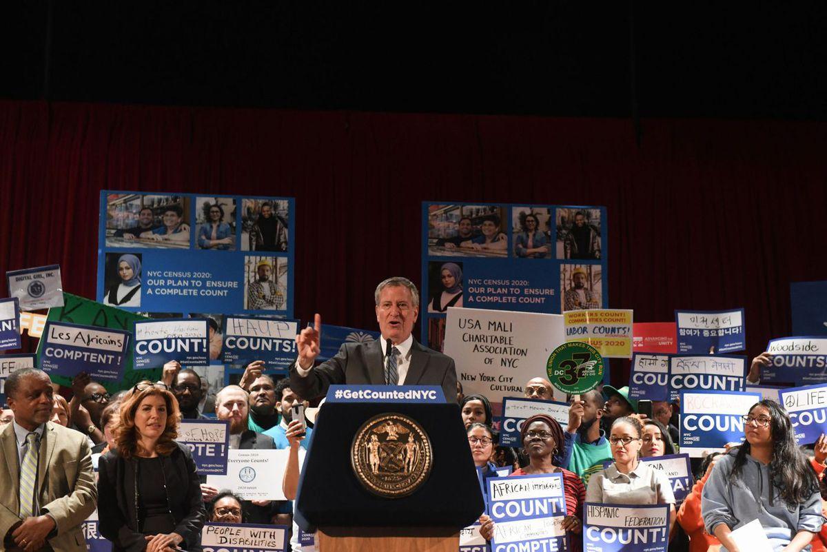 Mayor Bill de Blasio at 2020 Census rally
