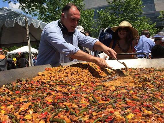José Andrés making paella [Photo: Facebook]