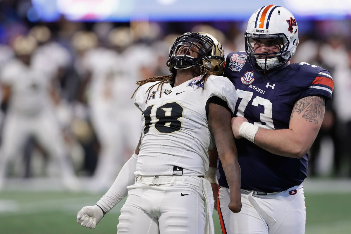 ucf vs. auburn final score: knights beat the tigers in 2018 peach