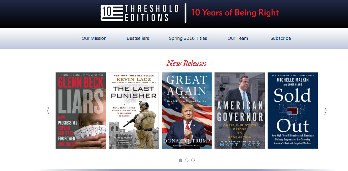Threshold Editions homepage