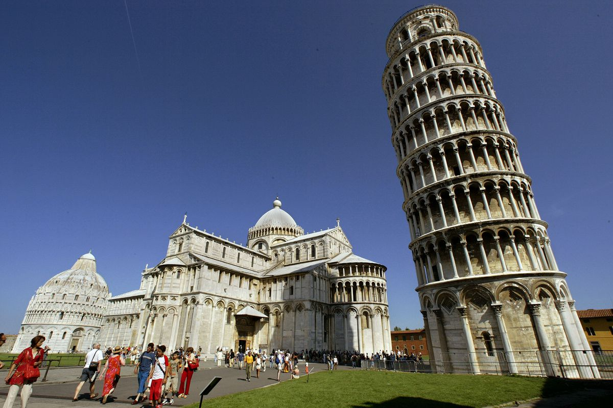 Leaning Tower Offers Night Views