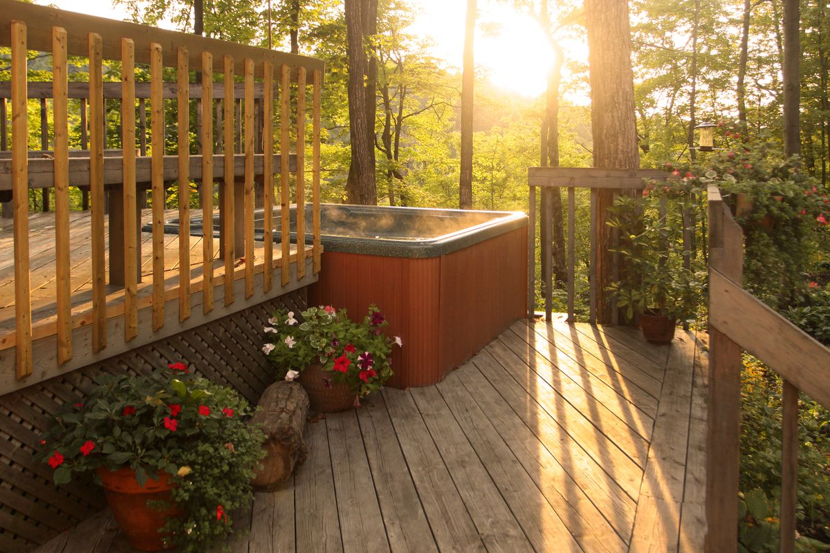 Exterior Home Hot Tub