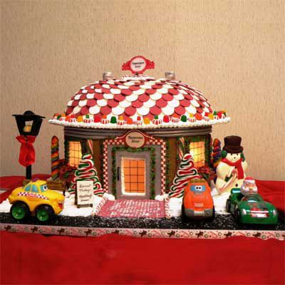Candy used to create the roof of a gingerbread house.
