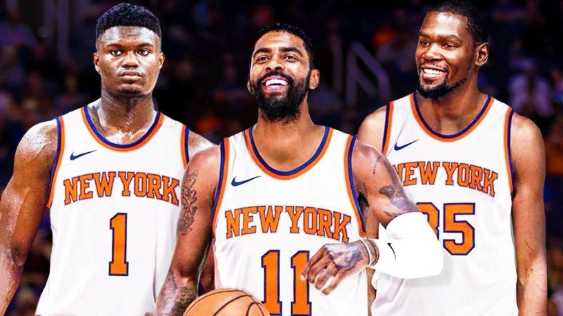 super popular d159d 340e8 Nets trolling Knicks with Kyrie Irving jersey giveaway at ...