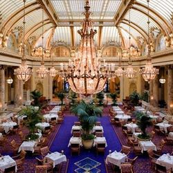 This historic landmark dining room was once the carriage entrance to the Palace Hotel. After the 1906 earthquake, the building was renovated and by 1909, the entrance became the glass-domed atrium Garden Court we know today. Enjoy afternoon tea or brunch