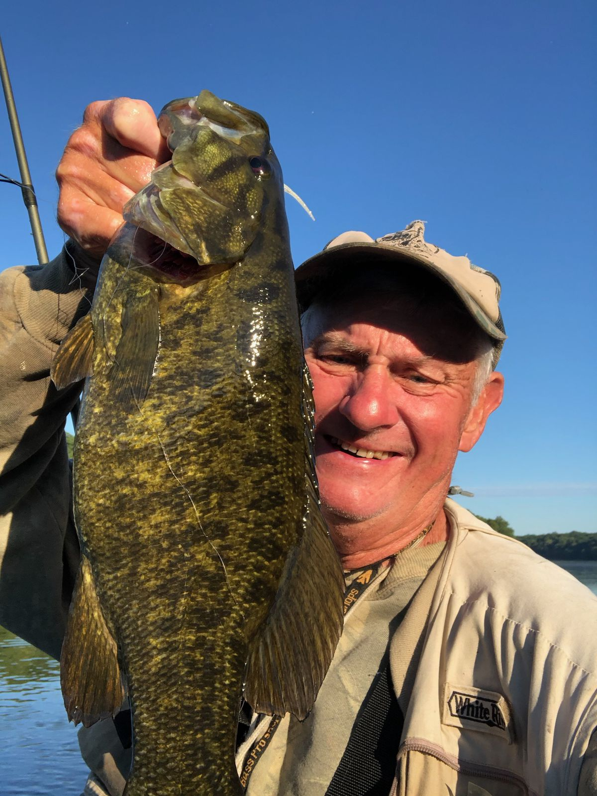 """George Peters with his """"Smallmouth of the Summer"""" from the Kankakee River. Provided photo"""