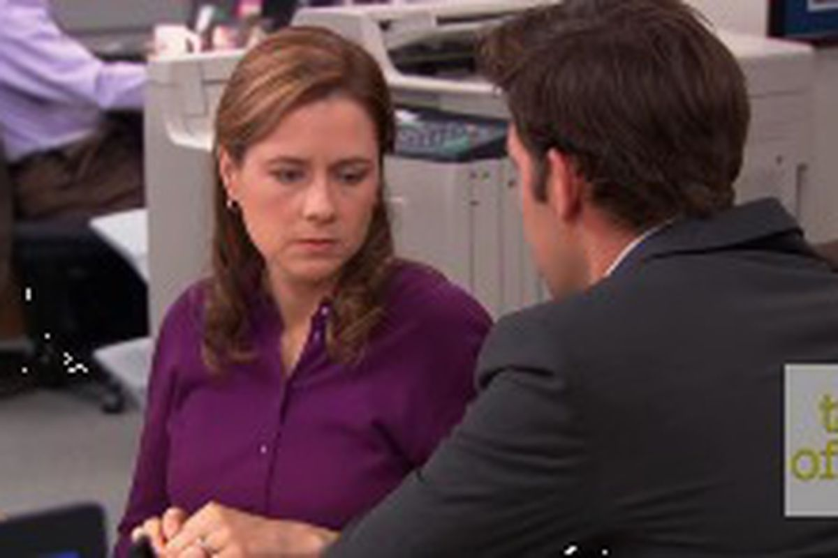 Pam And Angela From The Office Just Recreated A Classic Scene With A Festive Twist Deseret News